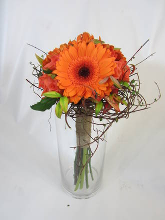 Bridal Bouquet: Orange
