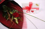 Romantic Red Rose & Scilla Chocolates